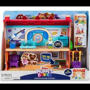 NEW ! Muppet Babies Schoolhouse Playset
